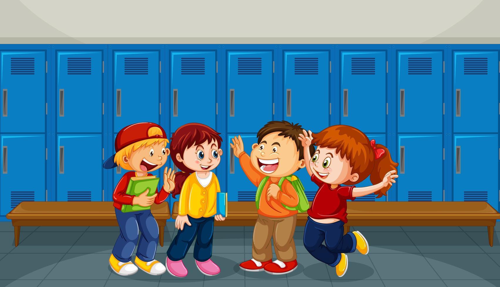 gelukkige kinderen op school vector