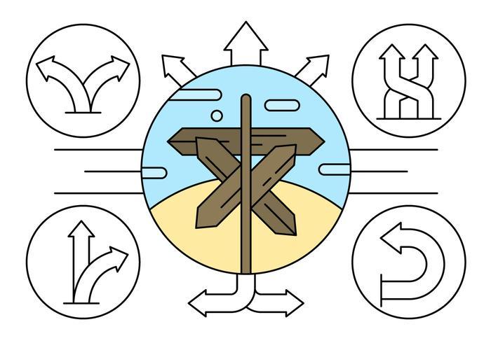Linear Direction Arrow Vector Elements