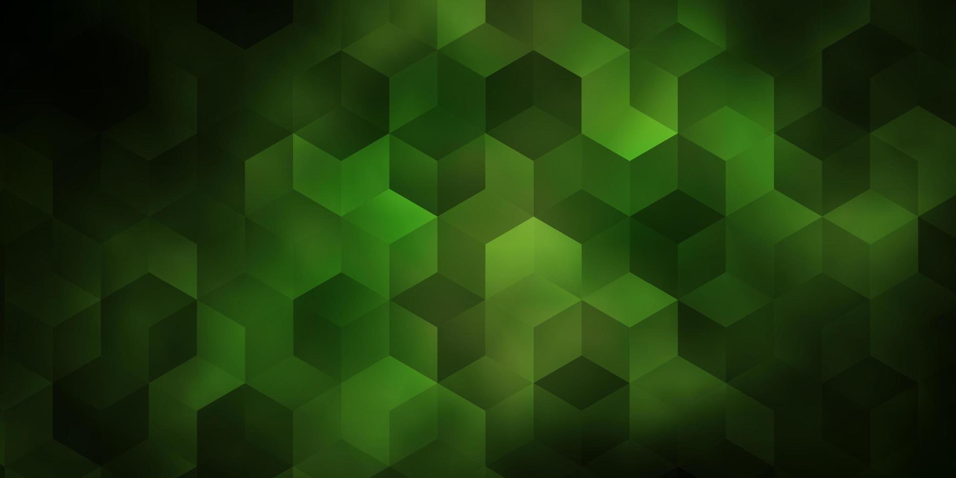 donkergroene sjabloon in zeshoekige stijl. vector