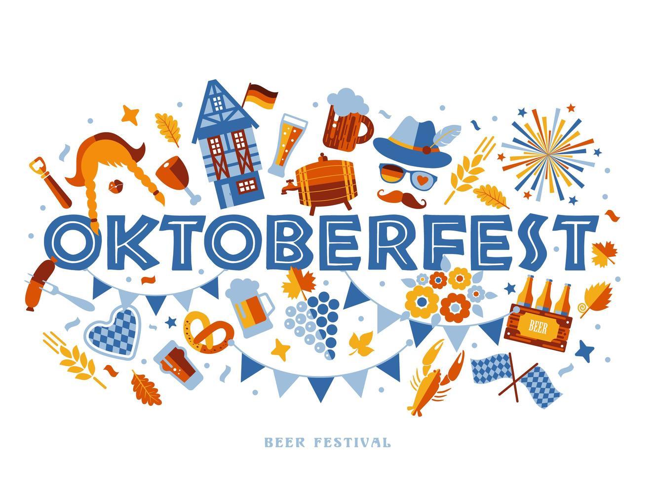 oktoberfest typografie banner vector
