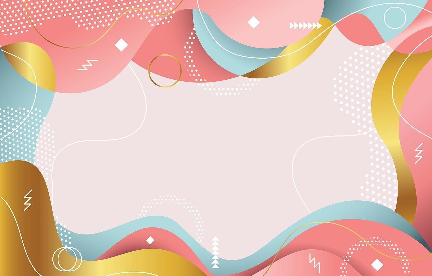 zacht gekleurde platte abstracte Memphis achtergrond vector