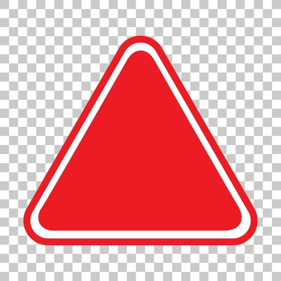 lege rode verkeersbanner op transparante achtergrond vector