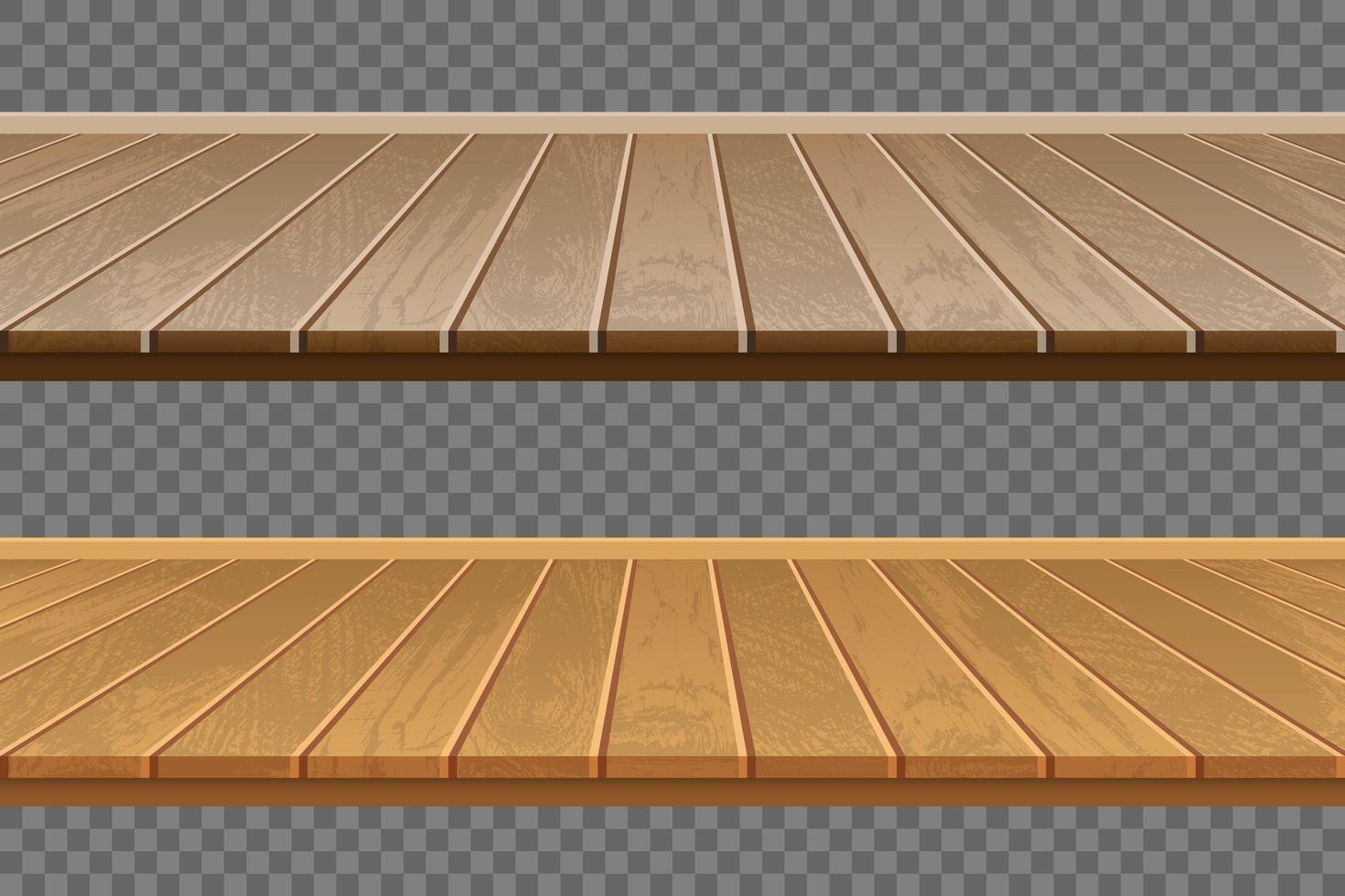 realistische houten vloer set vector