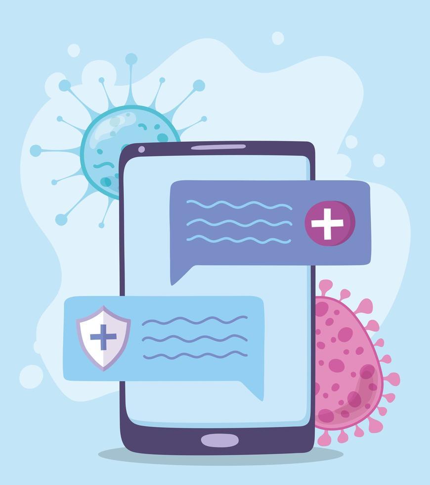 online medische zorg aan de telefoon vector