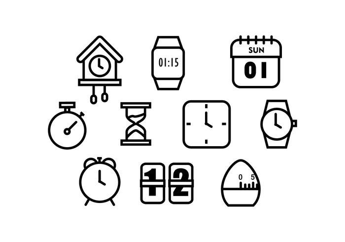 Free Time Icon Vectoer vector