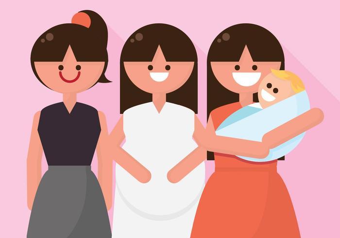 Vrouw Transformation Illustratie vector