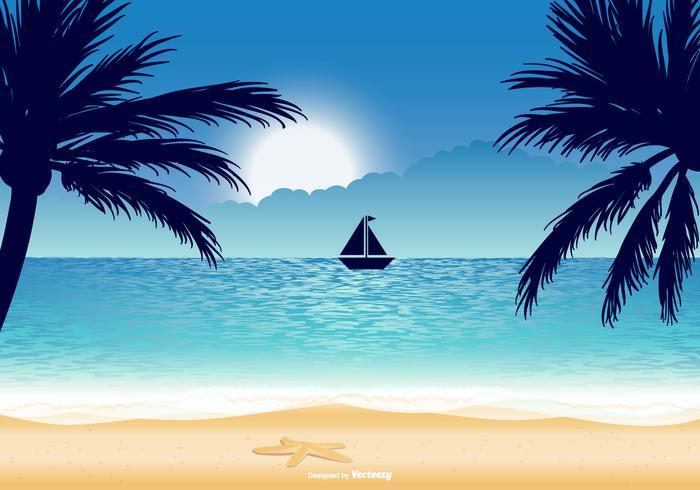 Beautiful Beach Illustratie vector