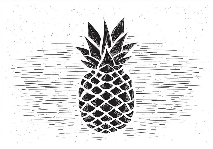 Gratis Vector Pineapple Illustration