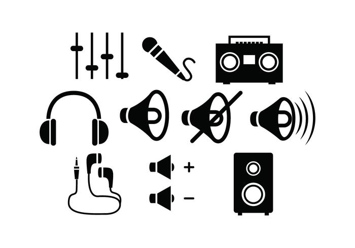 Free Sound Silhouette vector