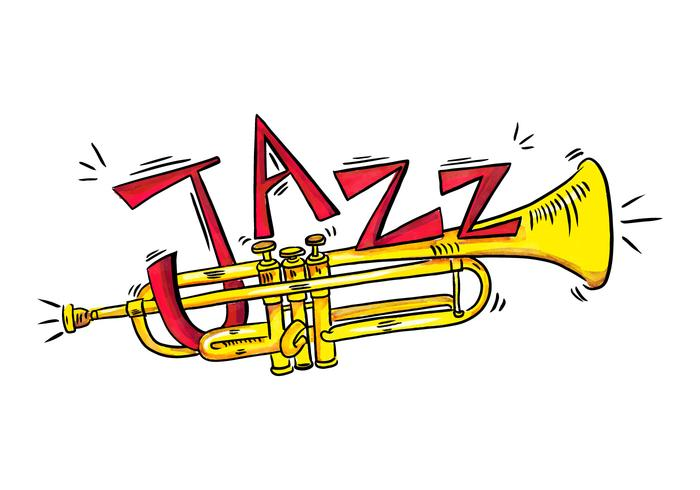 Style Gold Trumpet Musical Instrument Aquarel vector