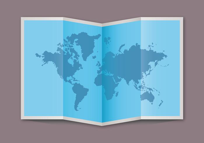 Blauwe Kaart van de Wereld Vector