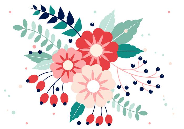 Gratis Vector Spring Flower Design