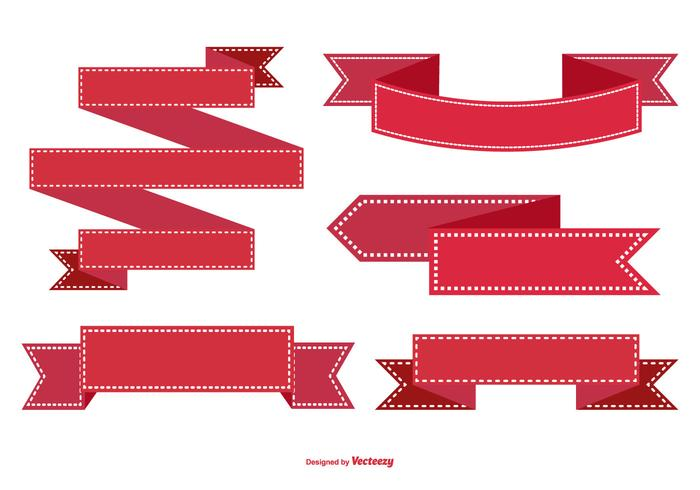 Red Ribbon-collectie vector