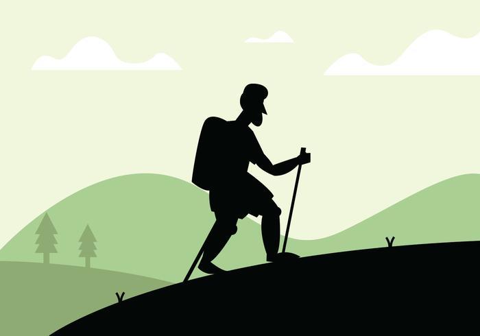 Nordic walking illustratie vector