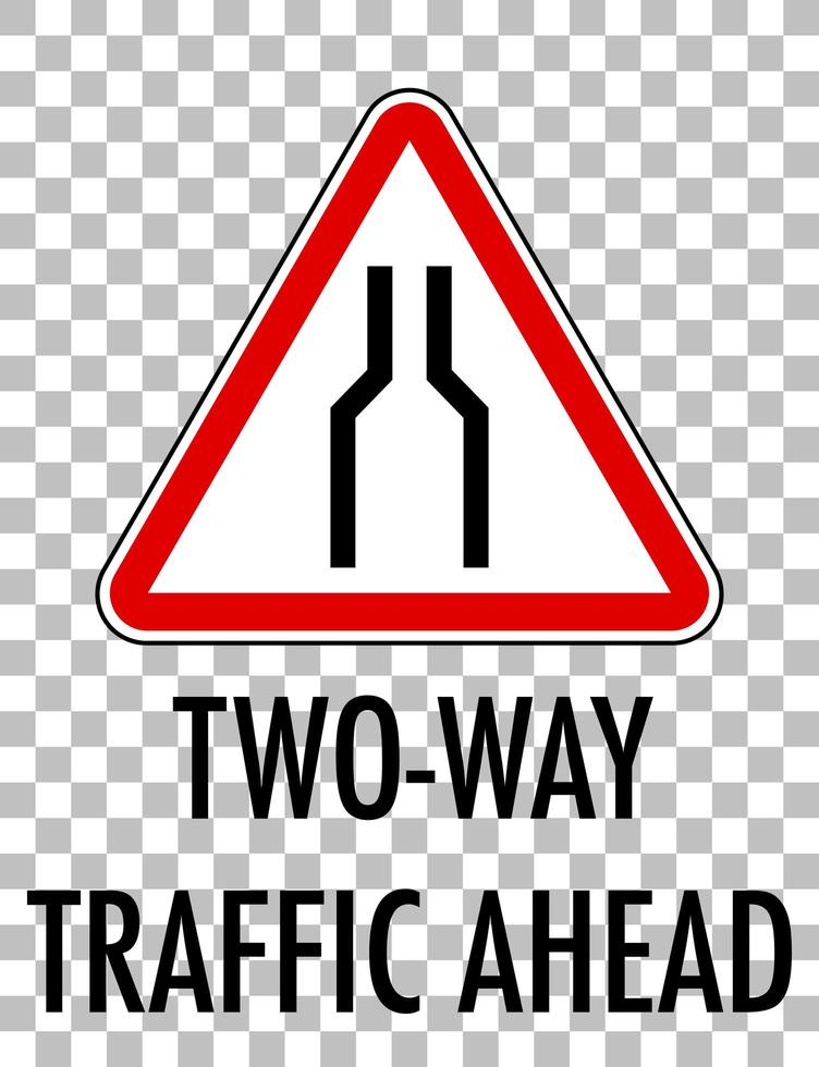 rood verkeersbord op transparante achtergrond vector