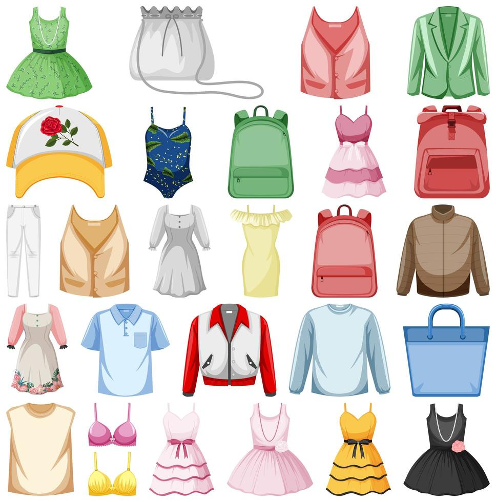 set mode-outfits vector