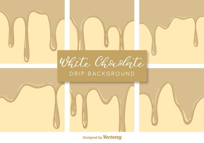Vector White Chocolate Druppels Achtergronden