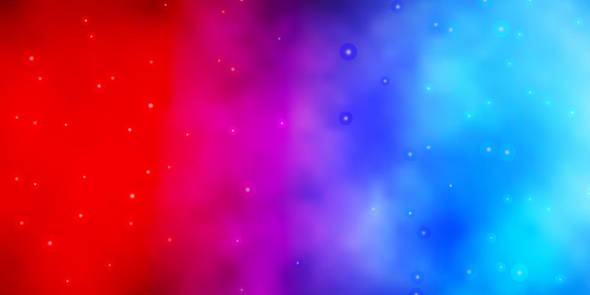 blauwe en rode textuur met prachtige sterren. vector