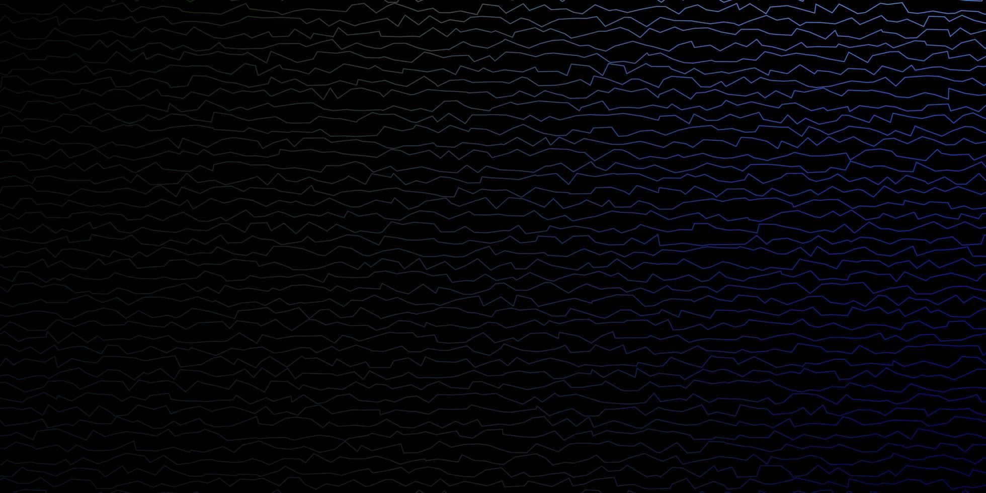 blauwe en groene achtergrond met wrange lijnen. vector