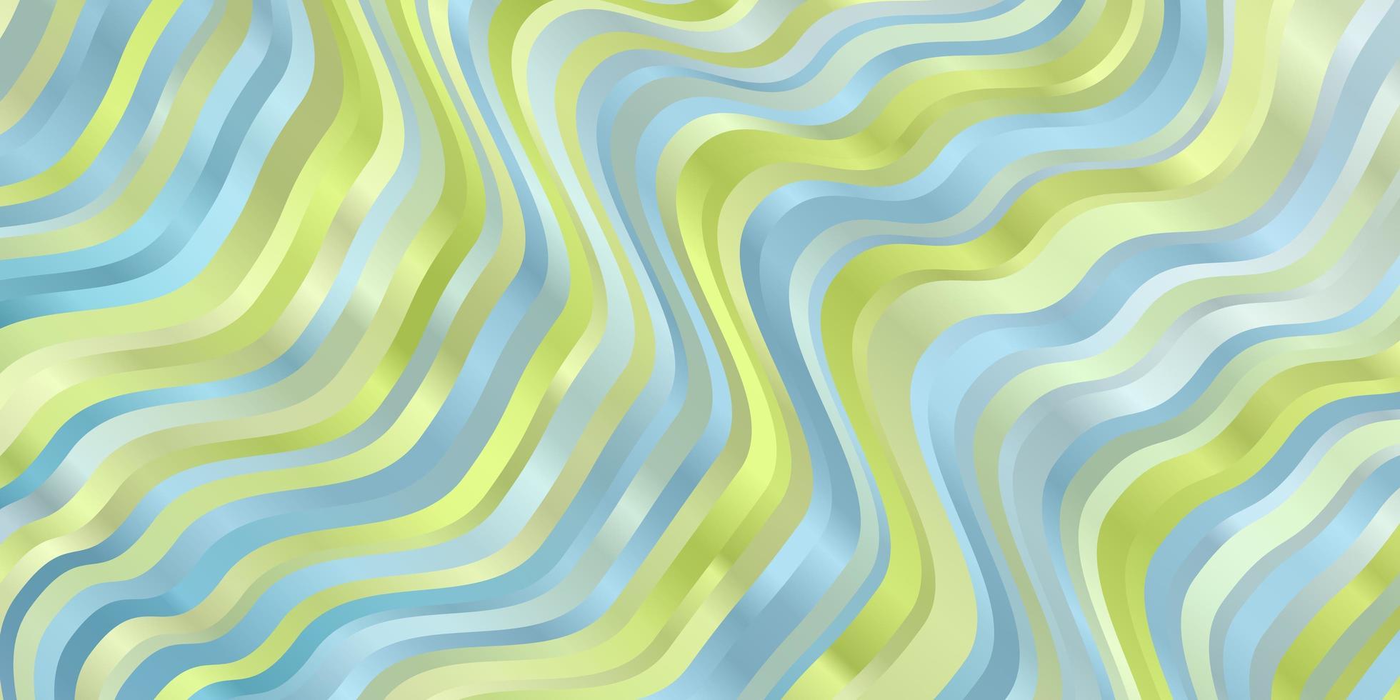 lichtblauwe en groene achtergrond met curven. vector