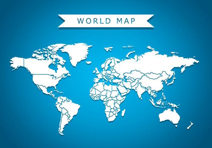 World Map Vector Achtergrond