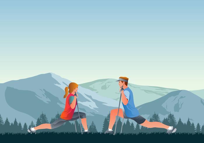 Nordic Walking Instructor Course vector