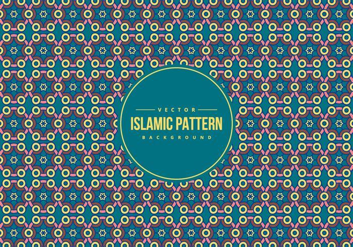 Islamic Style Pattern Achtergrond vector