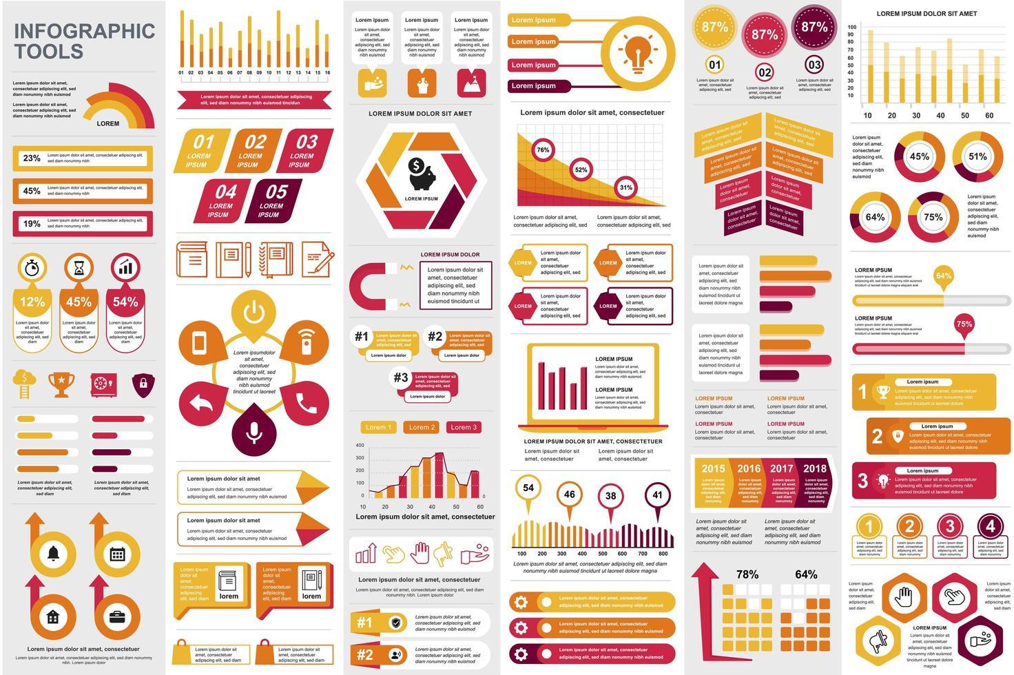 bundel zakelijke infographic elementen vector