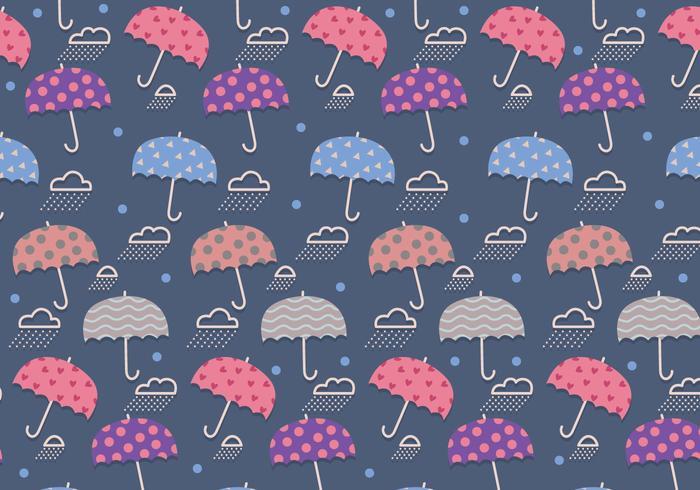 Monsoon Pattern Cute Vector
