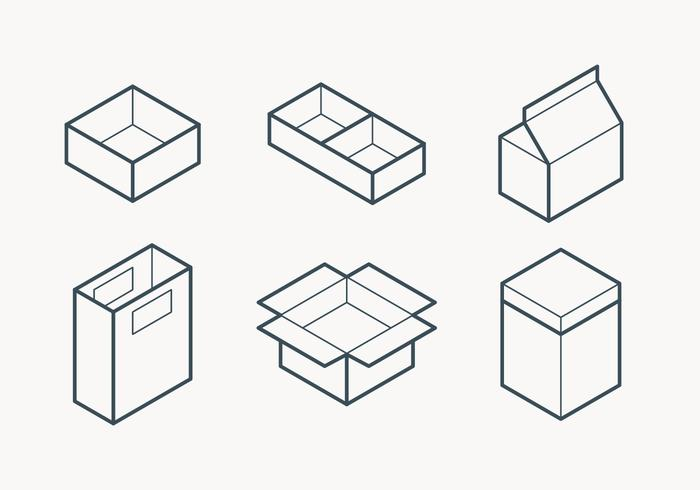 Packaging Outline Icon vector