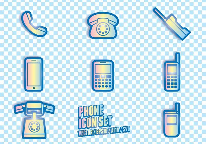 Telefoon Icoonsymbolen vector
