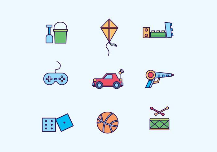 Kinderen speelgoed Icon Set vector