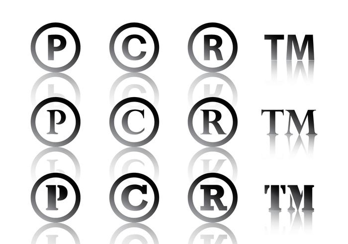 Black Copyright Symbol vector