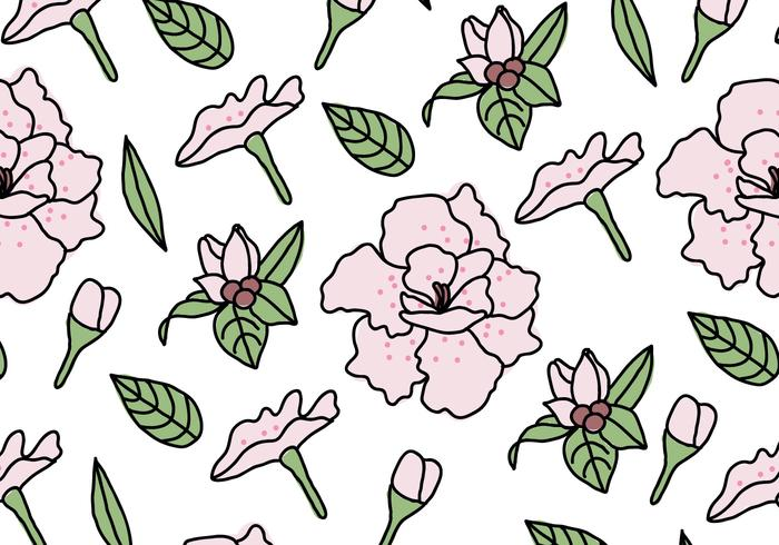 Rhododendron Pattern vector