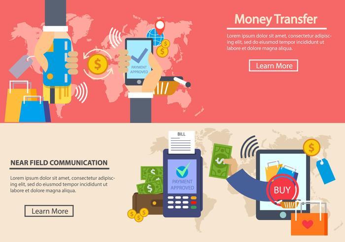 Betaling met NFC System vector