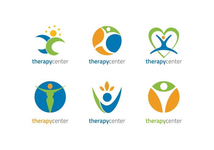 Fysiotherapeut Logo Gratis Vector