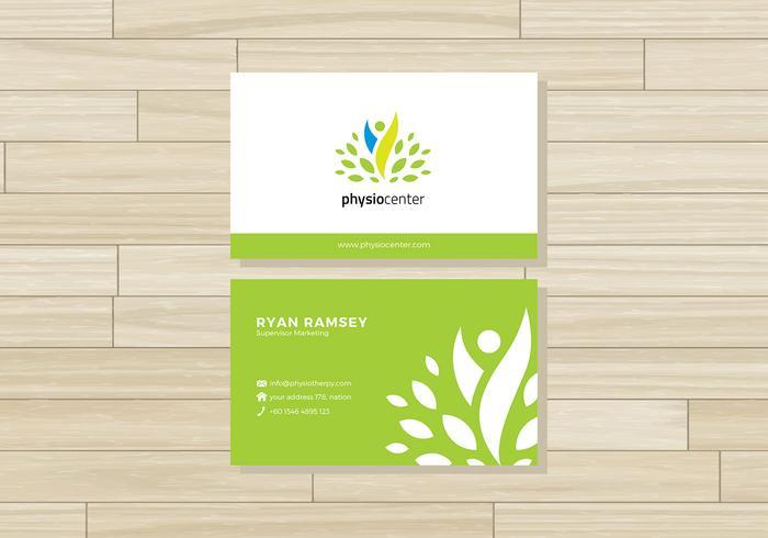 Fysiotherapeut Naam Card Gratis Vector