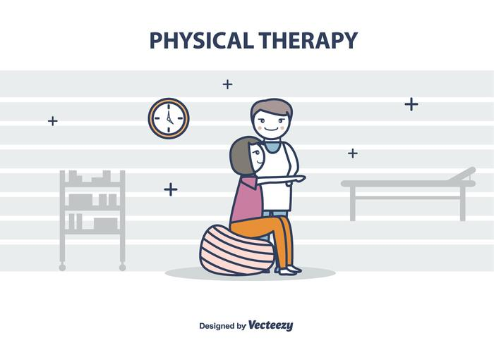 Gratis Fysiotherapeut Vector Illustration