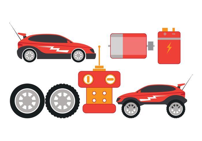 RC Auto Deel Vector Pictogrammen