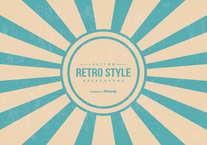 Retro Style Sunburst Achtergrond vector