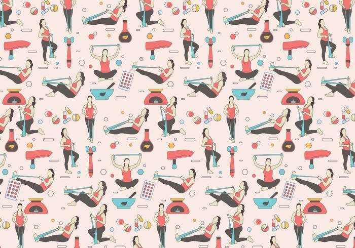 Fysiotherapeut patroon vector