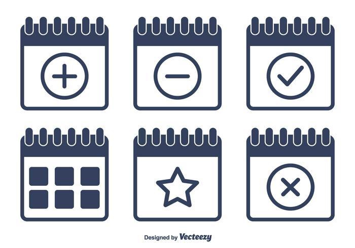 Vector Flat Calendar Icons