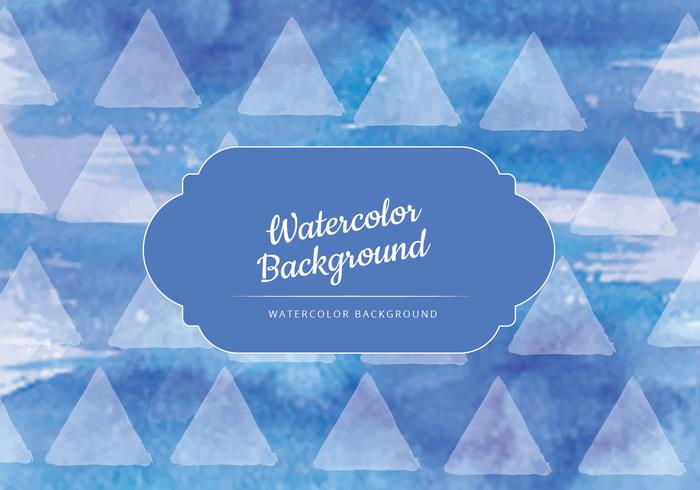 Vector Donkerblauwe Waterverf Achtergrond