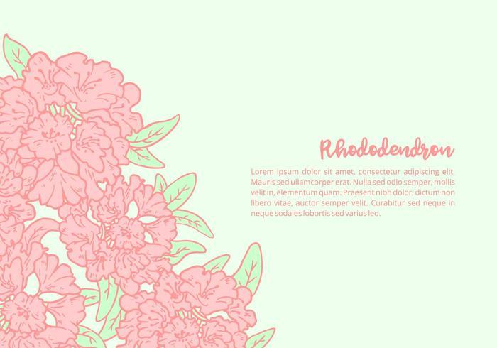 Rhododendron Achtergrond vector