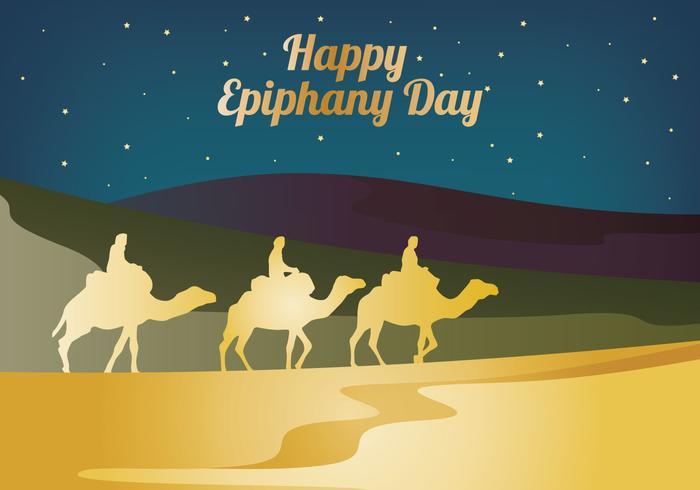 Gelukkig Epiphany Dag vector