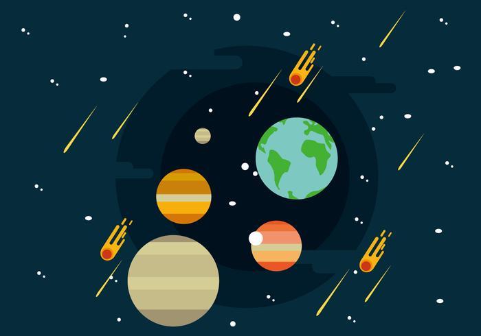 Solar System Illustratie vector