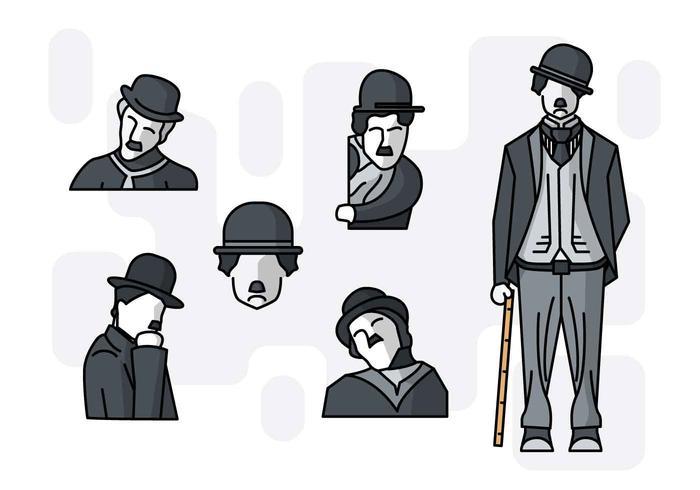 Gratis Unieke Charlie Chaplin-vectoren vector