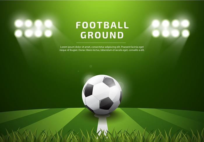 Footbal Ground Template Realistische Gratis Vector