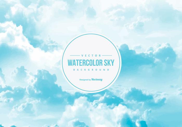 Waterverf Hemelachtergrond vector