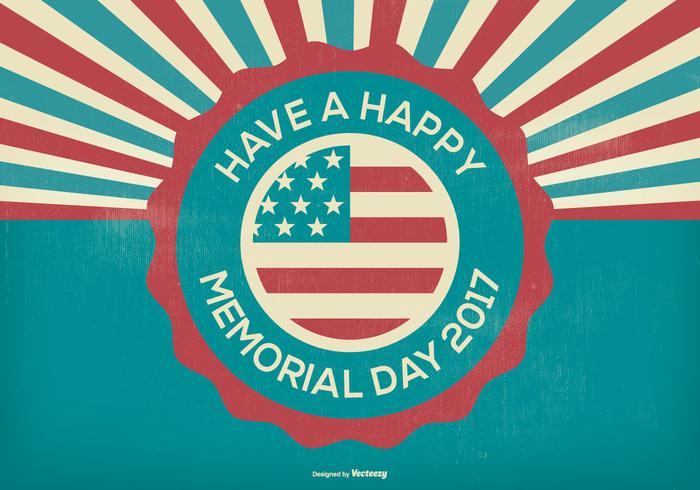 Retro Style Memorial Day Illustratie vector
